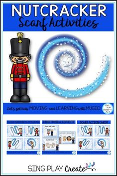 Music, P.E. and Classroom teachers will love using these directional movement cards based on the Nutcracker Ballet. Includes scarf and creative movement activities- a fun brain break or full class activity. #singplaycreate #creativemvement #creativemovementactivities #musicclasslessons #scarfactivities #holidaymusicclass #decembermusicclass #musicclasslessons #nutcracker #musiceducation #musicclassactivities