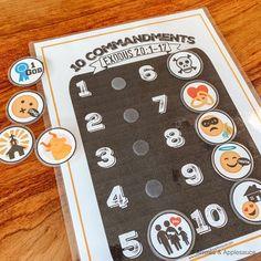 Ten Commandments Printable Memory Game Kids Activity Bible | Etsy School Games For Kids, Paper Games For Kids, Sunday School Games, Free Games For Kids, Outdoor Games For Kids, Memory Games For Kids, Games For Teens, Kids Party Games, Kids Fun
