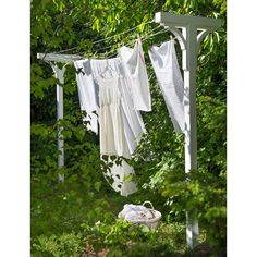 Build your own clothes line stand for the yard Bygg et tørkestativ