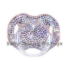 The Diamond Baptism Heirloom Bling Pacifier -- Baby Bling Things Boutique Online Store
