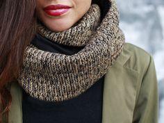 """earthy colors on dawanda.com Scarves – loop scarf """"Emmi"""" // ocher sand – a unique product by pikfine on DaWanda"""