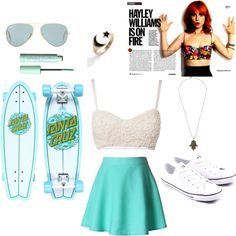 """Skater Girl"" by fashionlover-1-1 on Polyvore"