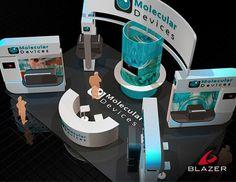Molecular Booth Design by Blazer Exhibits & Events #tradeshowbooth #tradeshow #design
