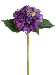 """Single Hydrangea in Purple Green - 19"""" Tall"""