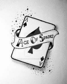 ace of spades card ink Cool Art Drawings, Pencil Art Drawings, Art Drawings Sketches, Tattoo Drawings, Tattoos, Ace Of Spades, Card Tattoo, Tattoo Designs, Playing Cards