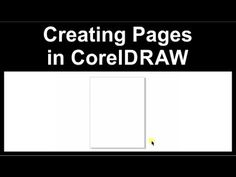 Setting up a page in CorelDraw