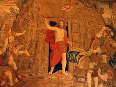 Resurrection of Christ. Tapestry in Vatican Museum , Easter Religious, Religious People, Religious Art, La Résurrection Du Christ, Jesus Christ, Santa Sede, Vatican Rome, Love Scriptures, A Moveable Feast