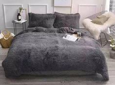 🔥All you need is this super warm doona cover bed set!  Our fluffy and Faux lambswool is perfect for winter 🧣  - Free shipping and 7 working days delivery  - Australian company established in 2017 - Over 30 colours combinations and all bed sizes - Highest quality stays beautiful after many washes   🛍Here's the link to our store: www.bohemianlifestylestore.com
