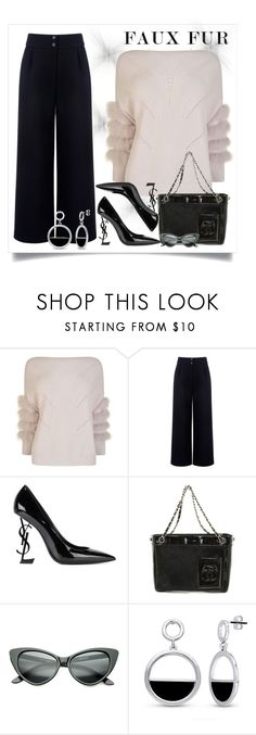 """Cozy fur"" by krista-zou on Polyvore featuring Max & Moi, Être Cécile, Yves Saint Laurent, Chanel, BERRICLE and Anita Ko"
