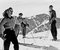 Ski Fashion: A History in 25 Vintage Photos - Festicket Magazine Ski Vintage, Vintage Travel Posters, Vintage Winter, Vintage Glamour, Moda Ski, Ski Fashion, Winter Fashion, Ski Sweater, Ski Season