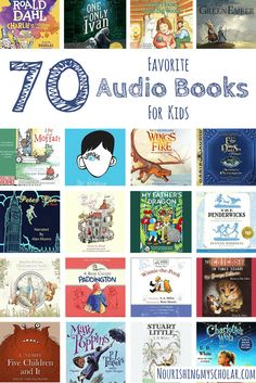 70 Favorite Audio Books For Kids: Do your kids like audio books? I've created a list of our family's favorite selection of audio books from classics to new modern favorites. via Nourishing My Scholar Audio Books For Kids, Books For Boys, Childrens Books, Baby Books, My Fathers Dragon, Good Books, Books To Read, Books On Tape, Homeschool Books