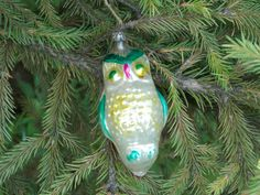 Owl bird tree christmas ornament animal bauble mercury glass Christmas gift Home…