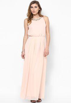 Buy DOROTHY PERKINS Blush Embellished Maxi Dress Online - 3226580 - Jabong 4cc9a9489