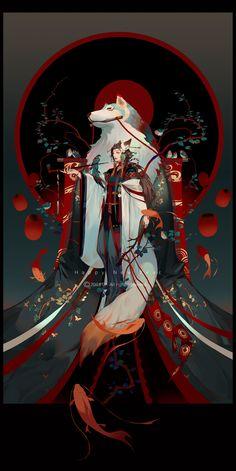 e-shuushuu kawaii and moe anime image board Fantasy Character Design, Character Art, Manga Art, Anime Art, Arte Ninja, Japon Illustration, Arte Obscura, Art Japonais, Samurai Art