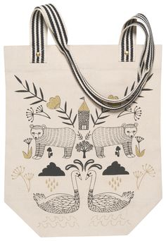 Now Designs Studio Tote Wild Tale Bag Market Shop Beach Reusable Eco Friendly 64180238998 Picnic In The Park, Bago, Zipper Pouch, Travel Style, Cotton Tote Bags, Travel Bags, Cosmetic Bag, Wedding Rings, Floral