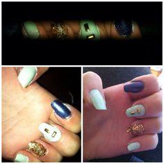 Nail art | nail gems | turquoise | feature nail |