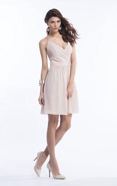 Short/Mini Sleeveless Spaghetti Straps Chiffon Zipper Bridesmaid Dresses