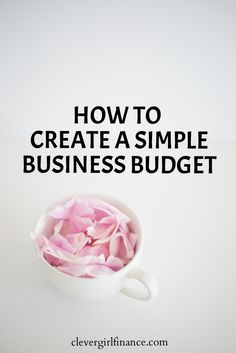business finance Creating a business budget does not have to be complicated! This post breaks it down in a simple and easy to understand way. Business Money, Business School, Business Planning, Business Marketing, Creative Business, Business Tips, Finance Business, Marketing Budget, Online Business