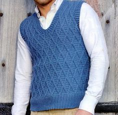 Sleeveless Sweater with Trellis Pattern - free Ravelry download
