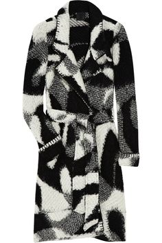 Patterned knitted coat by Anna Sui