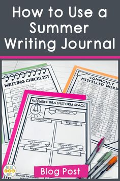 One of the best summer activities for students is summer writing. The more students are exposed to writing activities, graphic organizers, checklist, & writing tools, the better they do. Avoid the 'summer slump' with these summer writing activity ideas and support all learners this summer! Head to this blog post to get some ideas and see how I'm getting students ready for summer writing now! Writing Workshop, Writing Skills, Summer Journal, Sentence Writing, First Blog Post, Activity Ideas, Writing Paper, Summer School, Graphic Organizers