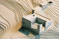 'La casa experimental' designed by Alvar Aalto - Architectural model Architecture Drawings, Architecture Plan, Landscape Architecture, Interior Architecture, Architecture Models, Alvar Aalto, Casa Patio, Arch Model, Small Buildings