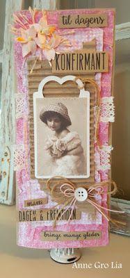 min lille scrappe-verden:  Vintage konfirmantkort  Anne Gro Lia Kort & Godt