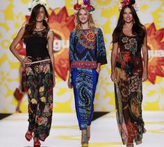 new york fashion week 2015 clothes - Desigual....always like how they are able to add color with pattern - bold looks
