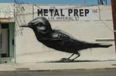 ROA in Los Angeles - street art.