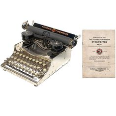 National Typewriter No.5 Portable Instruction Manual Instant