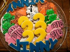 Holy Smokes Mallory! The number is 22 and the cookie name spells Vinny Weirrrrd!!!