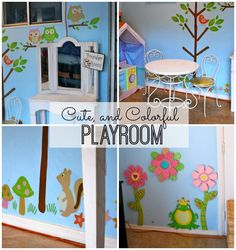 Cute and Colorful Playroom - www.classyclutter.net