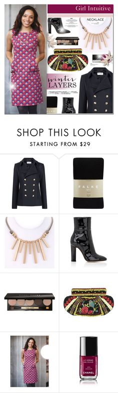 """Girl Intuitive 11"" by anyasdesigns ❤ liked on Polyvore featuring Yves Saint Laurent, Falke, Gianvito Rossi, Bobbi Brown Cosmetics, Chanel and StyleNanda"