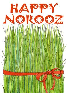 Happy norooz goldfish card persian iranian and iran happy norooz grass card m4hsunfo