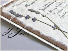 DIY Pressed Lavender Handmade Wedding Invitations
