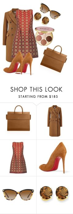 Other Brown by cmoligar on Polyvore featuring Alberta Ferretti, Phase Eight, Christian Louboutin, Givenchy, Kevin Jewelers, Versace and tarte