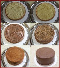 Recette génoise amande fourrée ganache Kinder avec tutoriel Cake Design gâteau de Noël...
