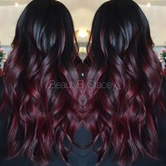 Red ombre . Look at these gorgeous waves. - Looking for affordable hair extensions to refresh your hair look instantly? http://www.hairextensionsale.com/?source=autopin-pdnew