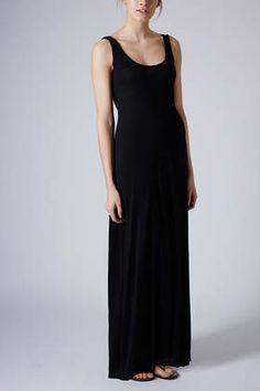 Plain Low Back Maxi Dress