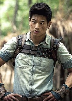 Custom Made Leather Chest Plate Harness (Minho) by Christine Bieselin Clark and Simonetta Mariano (Costume Designers) in The Maze Runner