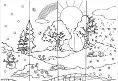 Les saisons - L'école de Crevette