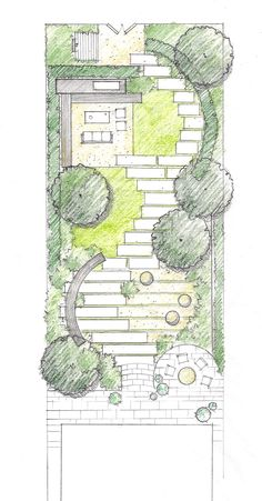 Landscape Design Plans, Garden Design Plans, Landscape Concept, Urban Landscape, Pembroke House, Lanscape Design, Garden Floor, Plan Drawing, Garden Architecture
