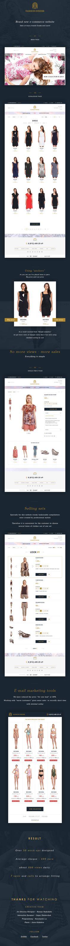 Fashion insider - eCommerce website, Logo, Branding on Behance