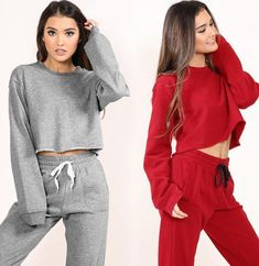 Flash Deals Women tracksuit sportswear two pieces set long sleeve sweatshirt tops+ pants set fitness clothing casual women's set Xnxee Crop Top Hoodie, Pullover Shirt, Suits For Women, Clothes For Women, Jumper, Tracksuit Set, Sport Pants, Sport Outfits, Sportswear