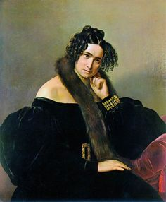 Франческо Айец. Фелисина Кальо - Перего ди Кремнаго. 1842 год. Холст, масло. Частное собрание.