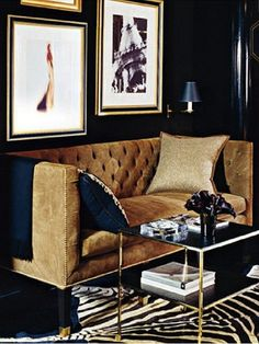 Living Room Ideas, Interior Design, Home Design, House Design My Living Room, Home And Living, Living Spaces, Brown And Gold Living Room, Ralph Lauren Home Living Room, Classy Living Room, Navy Blue Living Room, Modern Living, Design Salon