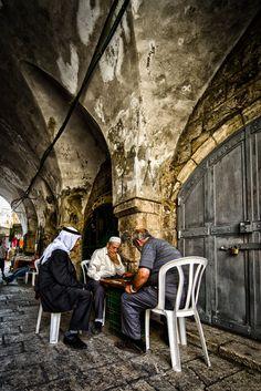 In the Muslim quarter, old city Jerusalem by Ido Meirovich