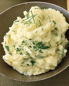 Herbed Mashed Potatoes Recipe - Can prepare up to one day ahead.