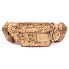 Bauchtasche «Pattern» aus Kork – Nachhaltige Gürteltasche – Korkleder Fany Pack, Unique Bags, Vegan Lifestyle, Bag Making, Cork, Wallet, Personalized Items, Pockets, Zipper