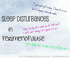 The Perimenopausal Homeschooler:: Sleep Disturbances. If you're in your 30's or 40's and are having sleep dsturbances, perimenopausal hormone imbalances could be the cause. Some simple steps can bring you relief.